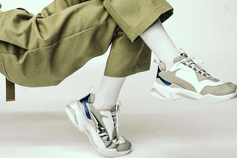 Artful Chunky Footwear Editorials - BLENDS Creatively Calls Attention to PUMA's Chunky Shoes
