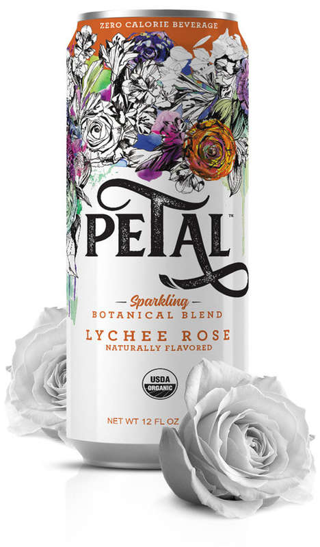 Sparkling Botanical Beverages - Petal's Rose Water Drinks Contain No Calories, Sugar or Caffeine