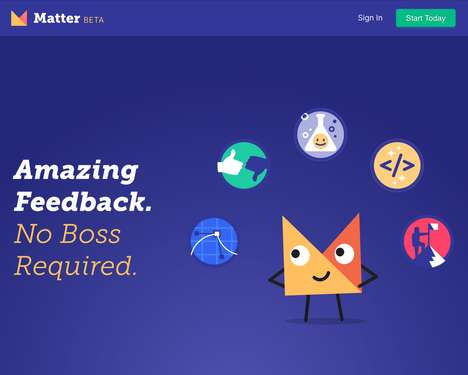 Career-Oriented Feedback Apps - The 'Matter' App Encourages Constant Professional Feedback