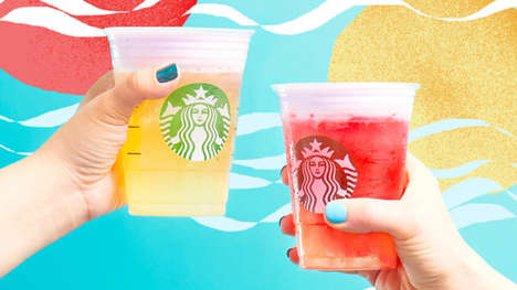 Summery Foam-Topped Teas - The Starbucks Cold Foam Tea Lemonades are Refreshingly Different
