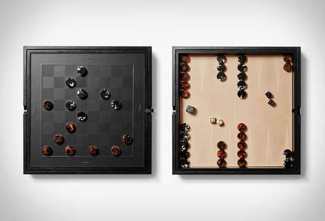 Chic Americana Board Games - The Shinola Backgammon & Checkers Game Set is Premium