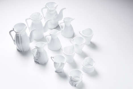 Imperfect Ceramic Homeware - Zhekai Zhang's 'Fabric Formula' Collection is Minimalist, Crisp & Clean