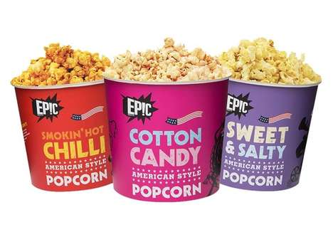 Streaming-Friendly Popcorn Snacks - These Epic Popcorn Tubs Have Been Developed for Binge Watchers