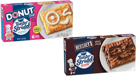 Cafe-Inspired Breakfast Pastries - These New Pillsbury Toaster Strudel Flavors are Decadent