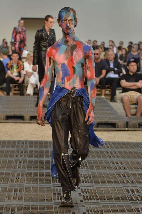 Paint-Splattered Fashion Runways