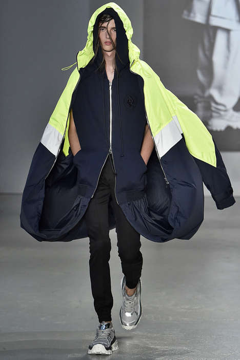 Luxurious A-Line Outerwear