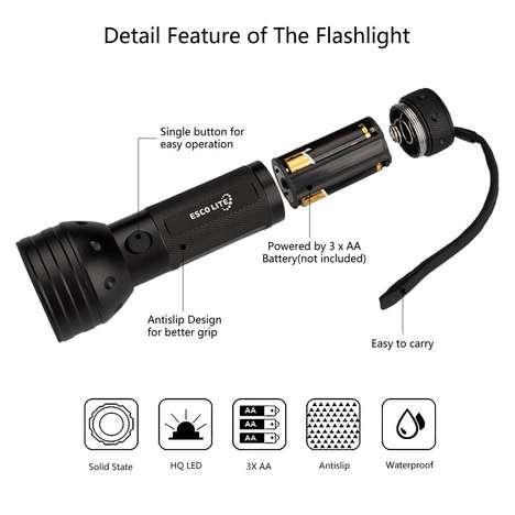 Ultraviolet Flashlight Stain Detectors