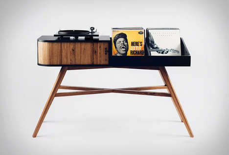 The HRDL Vinyl Table Holds Up to 200 Albums