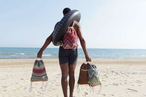 Blanket-Integrated Beach Bags