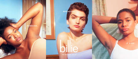 Female-Centered Empowering Razor Campaigns - Billie Celebrates Female Body Hair with Its New Video