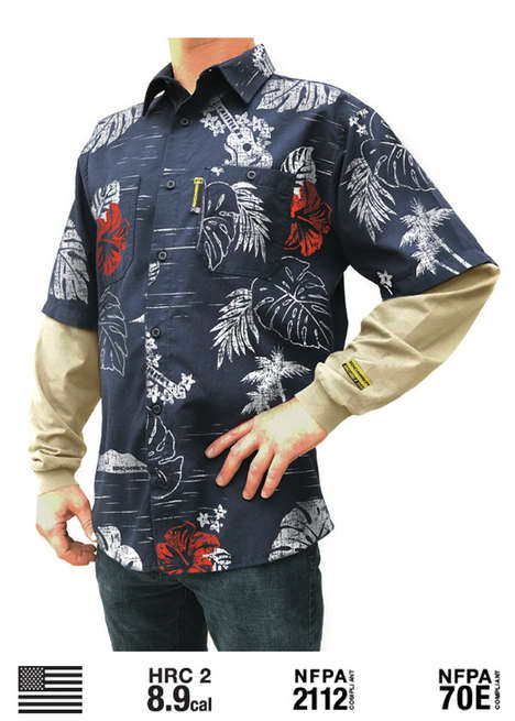 Flame-Resistant Hawaiian Shirts