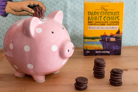Mini Mint Chocolate Biscuits