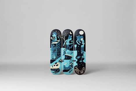 Quirky Illustrated Skateboards