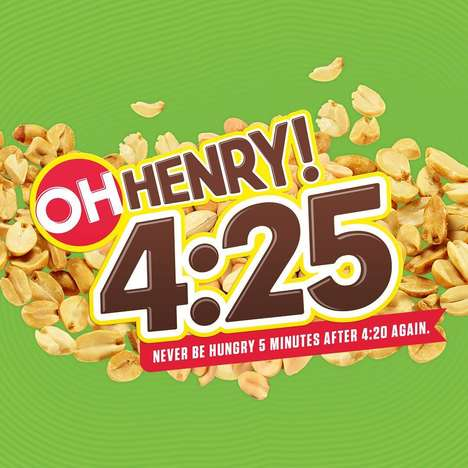 Hunger-Curbing Snack Bars - Oh Henry Created a Limited-Edition 4:25 Bar to Satisfy the Munchies