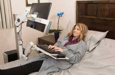 Ergonomic Bed-Friendly Workstations - The Rest-A-Desk Pro Allows Users to Fully Recline When Working