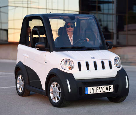 Miniature Toy-Inspired EVs - The 'Spirit City' Electric Vehicle is Designed for Two Passengers