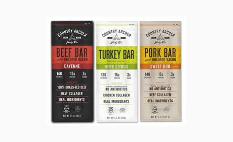Collagen-Enriched Jerkies - The New Country Archer Jerky Co. Bars Come in Three Varieties
