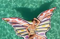 Funky Butterfly Pool Floats - The Butterfly Pool Float is an Instagramable Summer Accessory
