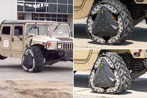 Adaptable Shapeshifting Tires - The Reconfigurable Wheel Track Expertly Performs on Any Terrain