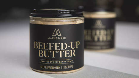 Beef Jus-Infused Butters - The Maple & Ash Beefed-Up Butter Adds an Indulgent Touch to Meals