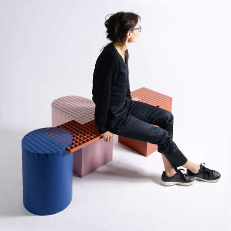 Contemporary Grid Benches