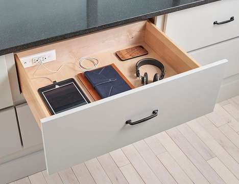 Drawer-Integrated Charging Outlets