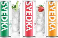 Botanically Infused Canned Cocktails - The Svedka Spiked Seltzers Contain 100 Calories Per Can