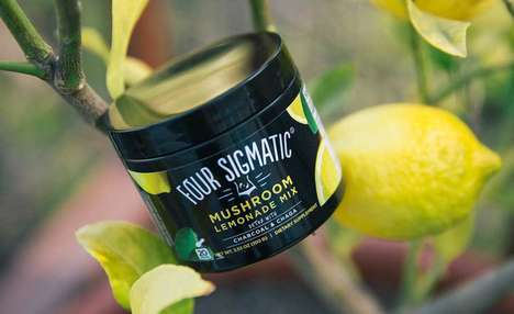 Digestion-Aiding Lemonades - The Four Sigmatic Mushroom Lemonade with Charcoal & Chaga is Holistic