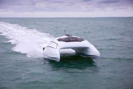 Futuristic Luxe Catamarans