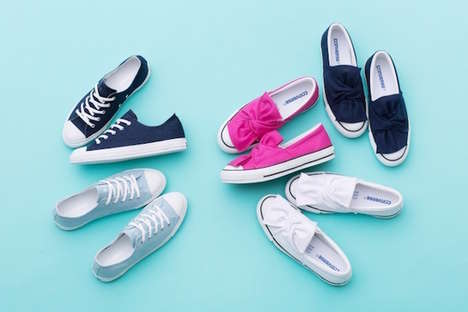 Ribbon-Accented Footwear Designs