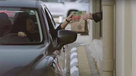 Celebratory Burger Giveaways - Burger King Drive-Thru Offers Free Whoppers to Women in Saudi Arabia