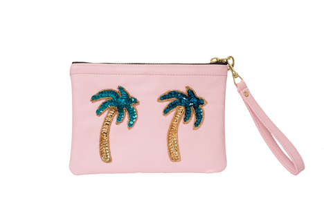 Palm-Themed Wrist Clutches