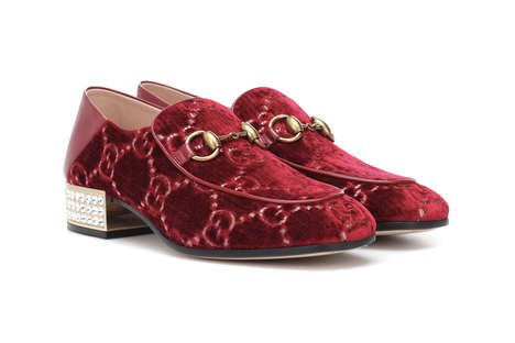 Red Velvet Logo Loafers