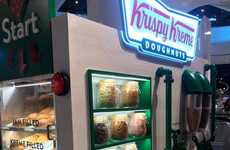 DIY Donut Kiosks - Krispe Kreme opened this unique DIY stand in the UK