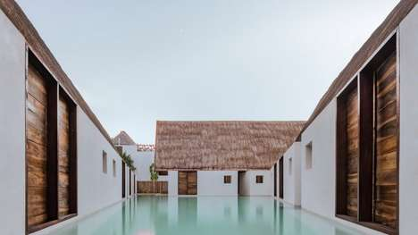 Secluded Island Boutique Hotels - Estudio Macías Peredo Draws Inspiration from Ancient Buildings