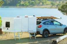 Wheel-Free Camping Trailers - The 'Hitch Hotel' Offers Ample Space for Relaxing While Exploring