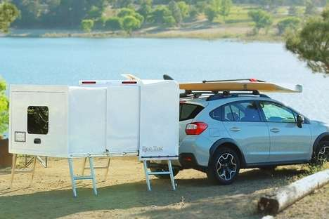 Wheel-Free Camping Trailers