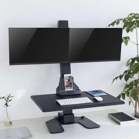Motorized Desk-Customizing Devices