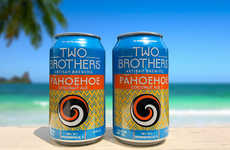 Artisan Summertime Libations - The Two Brothers Pahoehoe Coconut Ale is Crispy and Dry