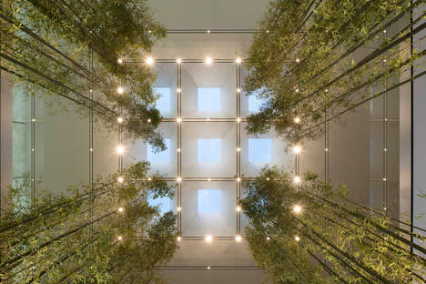 Bamboo-Detailed Green Retail Spaces - The New Apple Store in Macau is Created by Foster + Partners