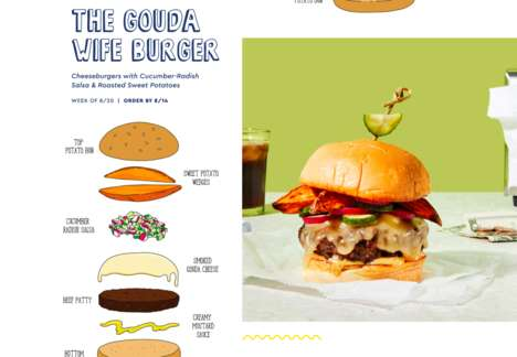Cartoon-Themed Burger Kits - Blue Apron is Sharing Recipe Kits Inspired by Bob's Burgers