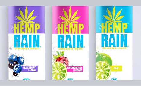 Sparkling Cannabinoid-Infused Drinks - The Hemp Rain Drinks are Made with Sustainable Ingredients