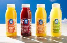 Free-From Unpasteurized Juices - The New Blue Skies Fresh Fruit Juices are Squeezed and Unprocessed