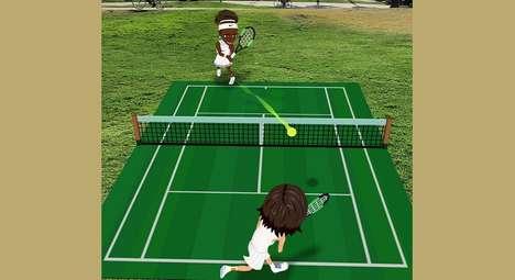 AR Tennis Match Games