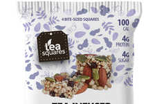 Tea-Infused Energy Bites - TeaSquares' Energy Snacks Feature Green or Black Tea for a Caffeine Boost