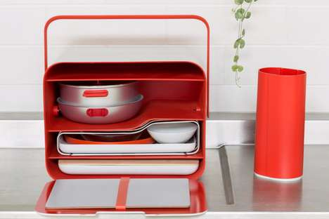 Compact Millennial Kitchens - Assembly by Yu Li is a Compact Portable Kitchen for Small Spaces