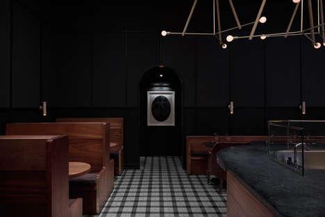 Dark-Lit Elegant Restaurant Interiors