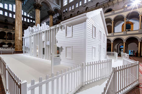 Immersive All-White Architectural Exhibitions
