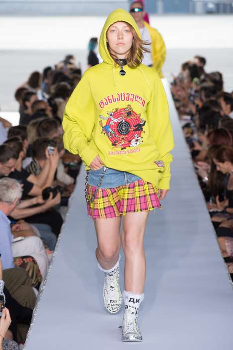 Boldly Eclectic Runway Collections - Vetements's SS 2019 Boasts an Unconventional Fashion Style