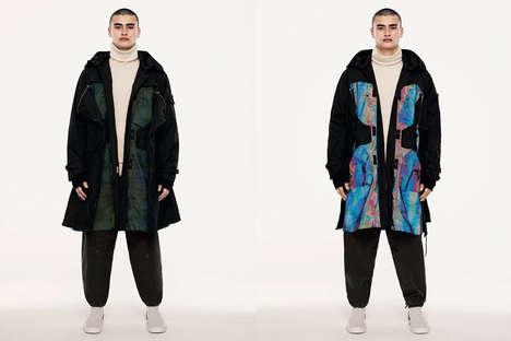 Iridescent Textural Outerwear
